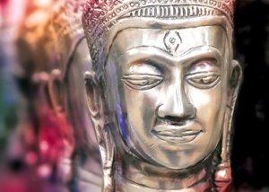 Buddhakopf Statue
